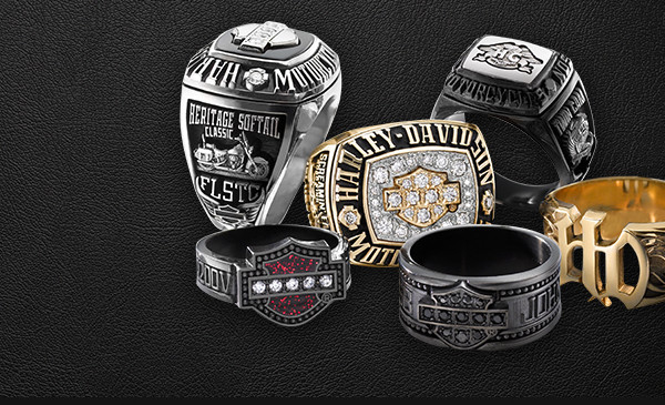 Custom Harley Davidson Mens Rings