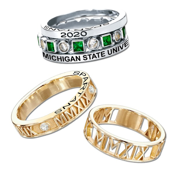 Michigan State University East Lansing Mi Yearbooks Grad Products Jewelry Jostens