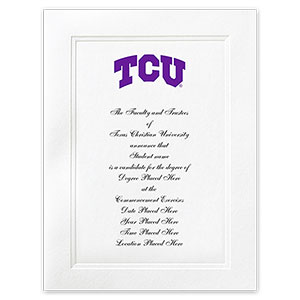 Texas christian university fort worth tx graduation personalized announcements 5045 yadclub Choice Image