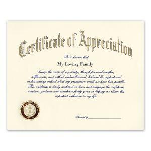 Certificate of appreciation jostens images certificate design lee university cleveland tn graduation announcements products certificate of appreciation 1750 yadclub images yadclub Choice Image