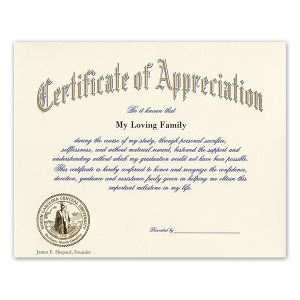 North carolina central university durham nc graduation certificate of appreciation gold seal 1900 yadclub Choice Image