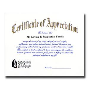 Certificate of appreciation jostens images certificate design columbus state university columbus ga graduation announcements certificate of appreciation 1900 yadclub images yadclub Choice Image