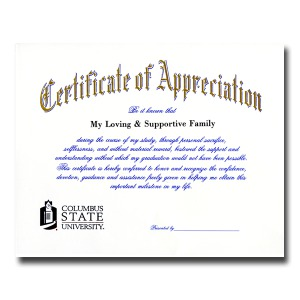 Columbus state university columbus ga graduation announcements certificate of appreciation 1900 yadclub Choice Image
