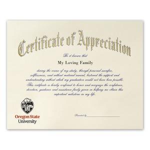 Oregon state university corvallis or graduation announcements certificate of appreciation 1650 yadclub Choice Image
