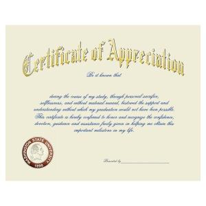 Washington state university pullman wa graduation announcements certificate of appreciation 1965 yadclub Choice Image