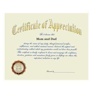 Missouri state university springfield mo graduation certificate of appreciation 1460 yadclub Choice Image