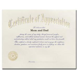 Certificate of appreciation jostens choice image certificate baylor university waco tx graduation announcements products certificate of appreciation 1900 yadclub choice image yadclub Choice Image