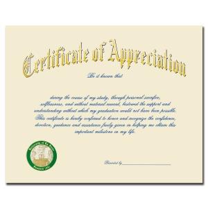 University of la verne college of law la verne ca graduation certificate of appreciation 1900 yadclub Choice Image