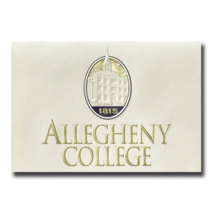 Allegheny college meadville pa graduation announcements custom seal notecards 1770 certificate of appreciation yadclub Choice Image