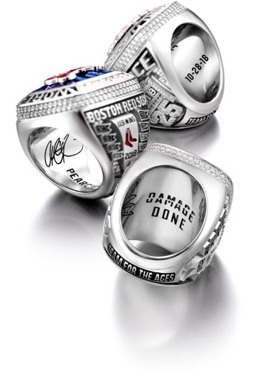 Boston Red Sox Ring inside view