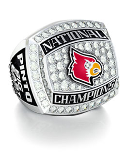 Jostens University of Louisville 2013 basketball championship ring