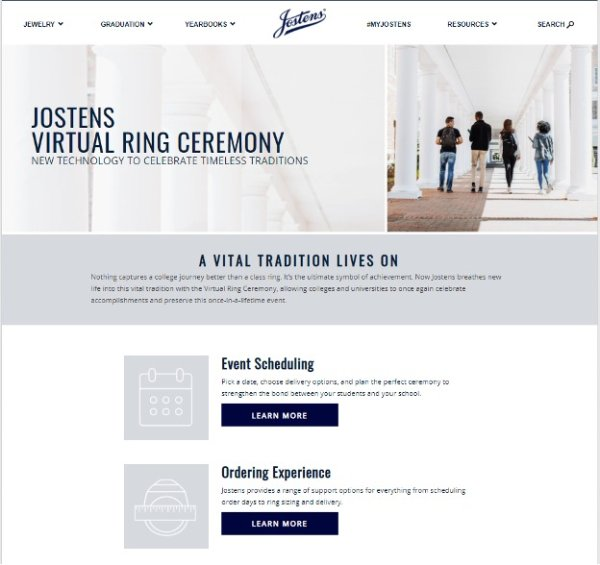 Jostens Keeps College Class Ring Traditions Alive and Safe With Virtual Campus Events