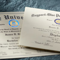 Diploma Covers Certificates College Graduation Announcements
