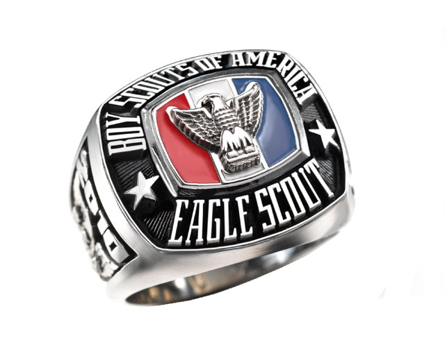 This is a picture of and Eagle Scout Ring