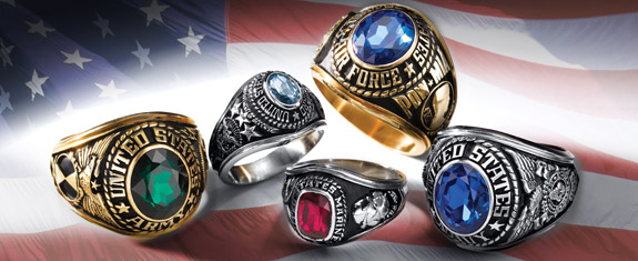 Personalized Military Rings