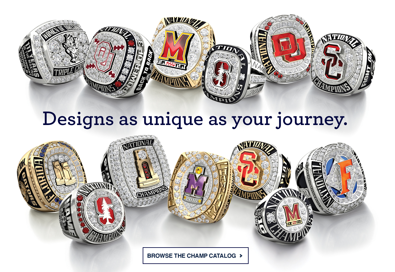 College Championship Rings - Jostens - College Rings